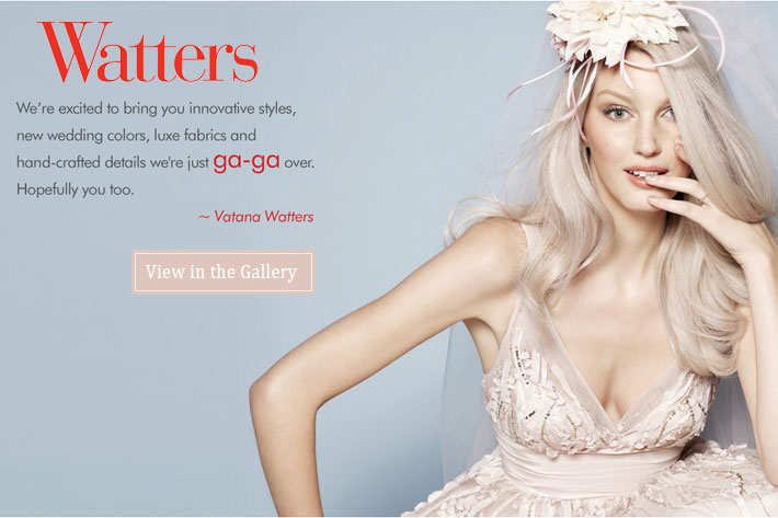 Bride.Canada: Watters Bridal wedding dresses in Canada