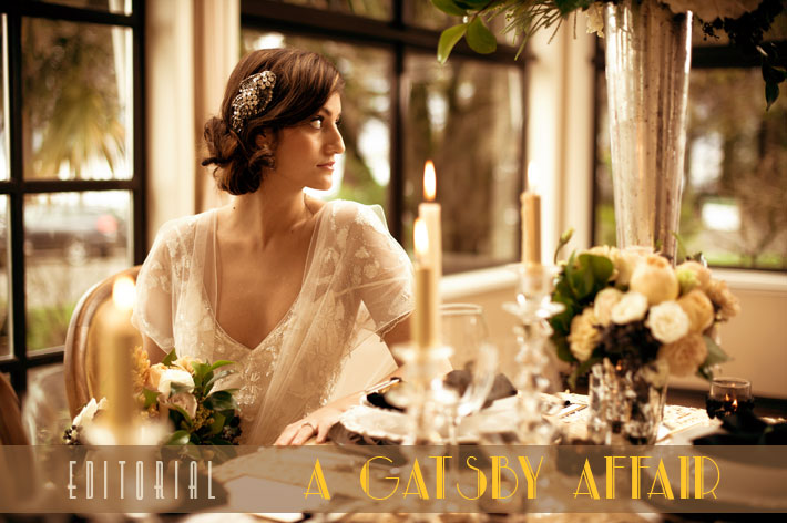 Gatsby Affair : Jenny Packham editorial at the Vancouver Teahouse