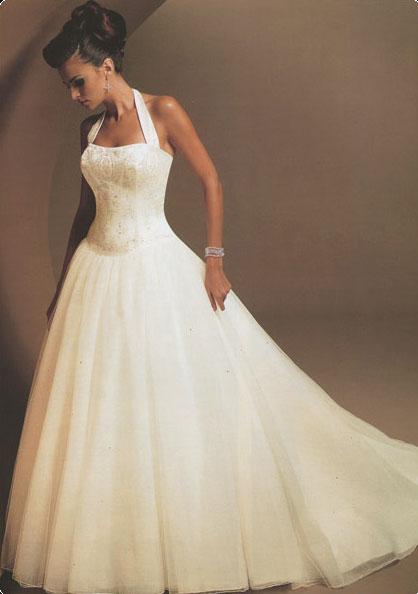 Mon Cheri, Rochel halter bridal gown