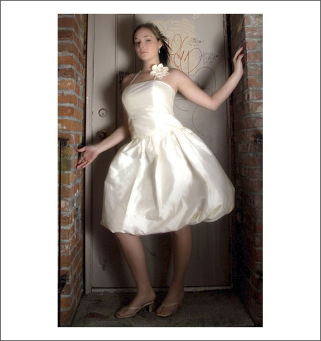 Custom wedding gown by Caroline Calvert: Bubble!