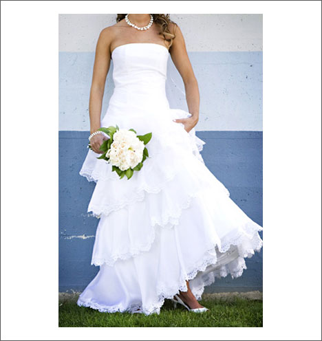 Custom wedding gown by Caroline Calvert: Keisha