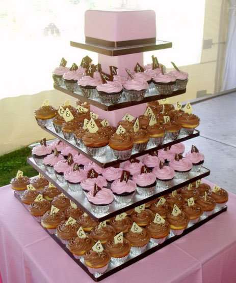 cupcake wedding cake for a wedding reception