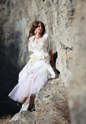 Beautiful Canadian Bride: Kristina, in the Rockie Mountains (Kyla Mae Wedding Photography, Banff, Alberta)