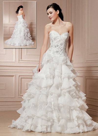 Wedding Dreses on Romantic Wedding Dress  Joana S Bridal  Montr  Al  Canada