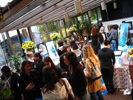Crowds and exhibits at the Brockhouse wedding show, in Vancouver