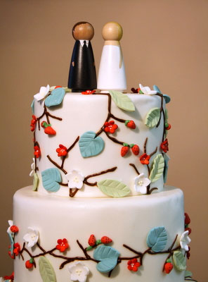 modern cake topper