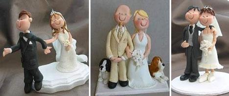 Custom wedding cake toppers: personalised