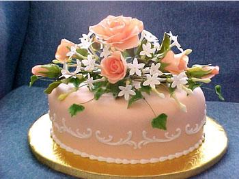 Flower bouquet wedding caketopper