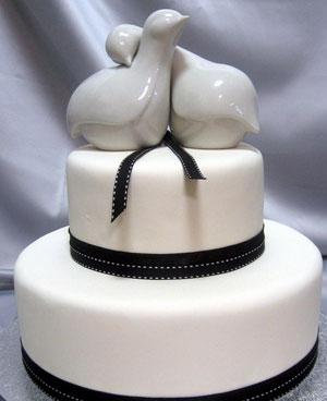 Wedding Cake Topper: Love birds