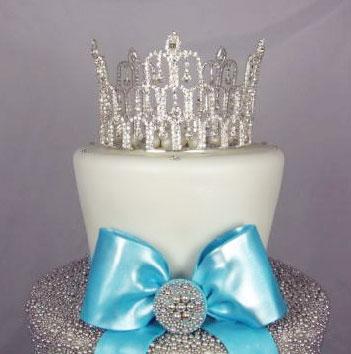 Wedding Cake Topper: crystal tiara