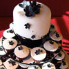 Black & White Wedding Cupcakes