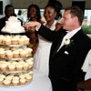 Serving a Cupcake Wedding Cake
