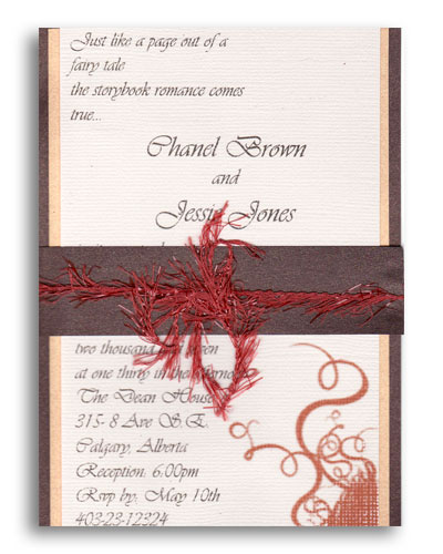 Channel wedding invitation