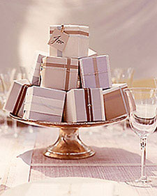 Using your wedding favours as a centrepiece!