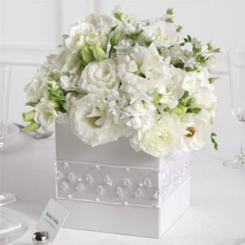 Flower box, as a DIY wedding centrepiece
