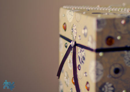 DIY wedding moneybox - detail
