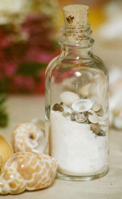 sand & sea shells, DIY beach wedding centerpiece, by Decor8 Events in Calgary
