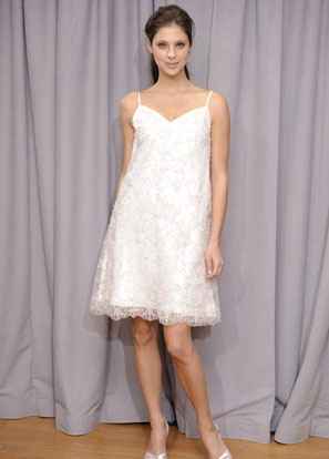Short wedding dress from Alfred Angelo's Spring 2010 collection