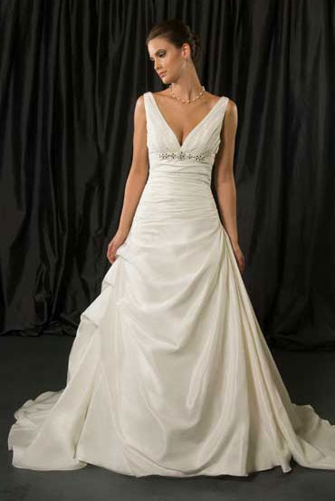 For a Beach Wedding: Elegance gown #8630