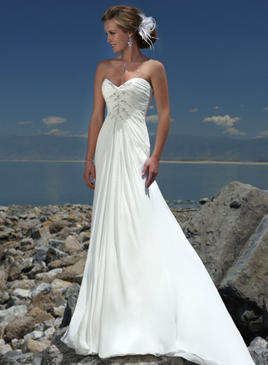 Wedding Trend Ideas White Beach Wedding Dresses