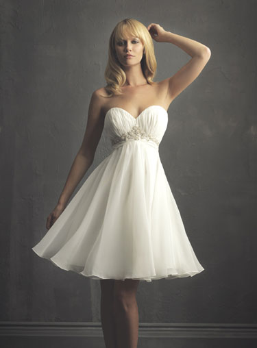 Simple Wedding Dresses in Canada, 2010: Allure, far & away collection