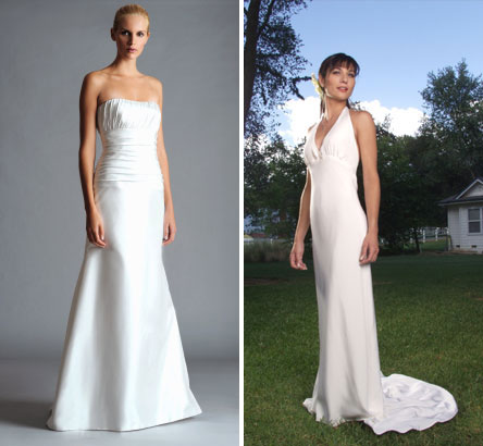 Simple, light, summer/beach wedding dresses from Jenny Yoo & Lynn Lugo
