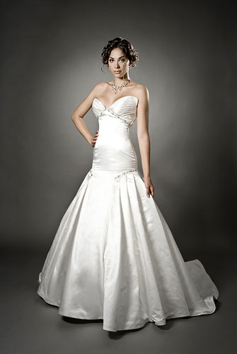 Simple Wedding Dresses in Canada, 2010: Mellissa Gentille ballroom gown