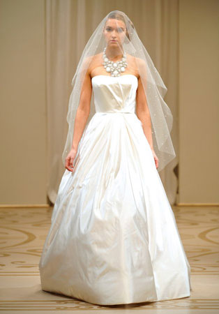 Simple Wedding Dresses in Canada, 2010: Reem Acra
