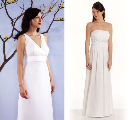 Simple Silhouettes & Thread wedding dresses