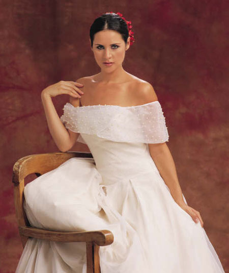 Image of Beauty: France summer wedding gown #11
