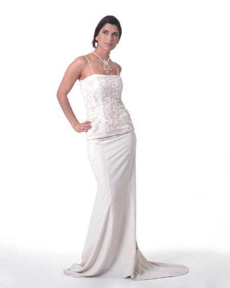 Image of Beauty: Mediterranean collection two-piece wedding dress #4