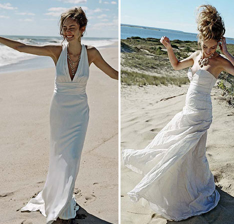 Perfect for destination weddings: Nicole Miller wedding dresses