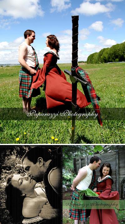Movie-Themed Engagement photo shoot : Braveheart
