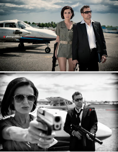 Lames Bond /Bond Girl, 007, themed engagement photo shoot