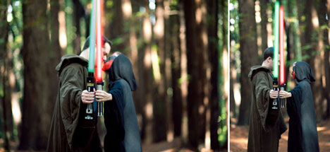 Star Wars, Jedi vs Sith, engagement photography idea
