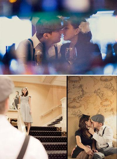 themed engagement photograps : movie titanic