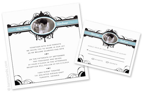 eco-chic wedding invitation