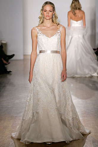2010 Bianca wedding dress by Christos Bridal