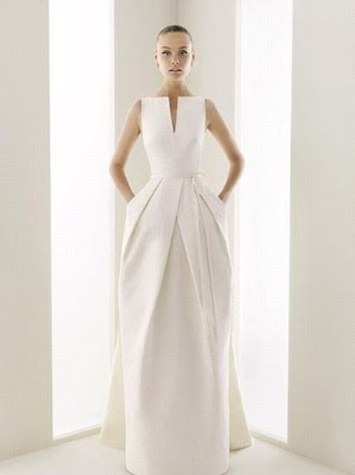 Rosa Clara wedding dress with pockets!