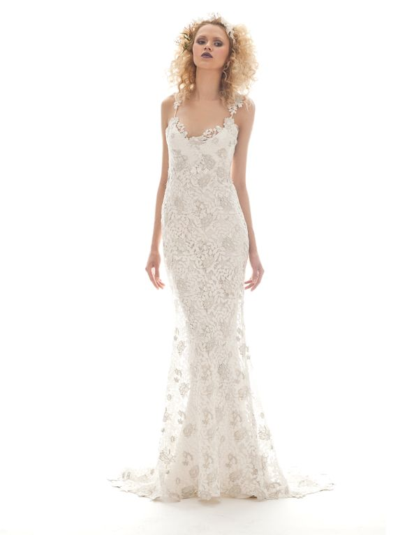Flora wedding gown from the Elizabeth Fillmore Spring 2013 bridal collection