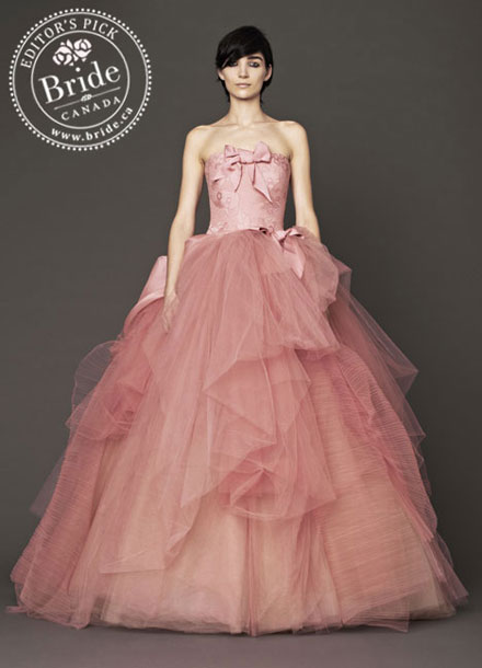 Vera Wang : Nora, Fall 2014 pink wedding dress!