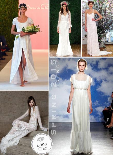 Bridal, Spring 2015, Trends, Boho, Wedding Dress, Bridal Gown