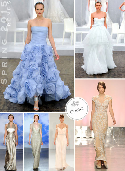 Spring 2015, Trends, Colour, Non-Traditional, Blush, Nude, Wedding Dress, Bridal Gown
