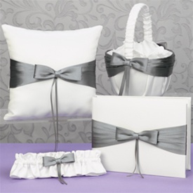 Bridal garter and flower girl basket set
