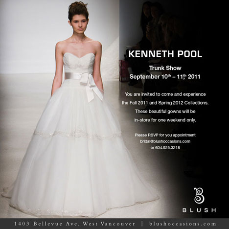 Blush Bridal Vancouver Kenneth Pool trunk (bridal fashion) show