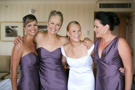 mis-matched bridesmaids dresses
