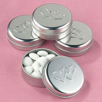 DIY wedding favour tins