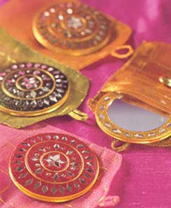 Indian Wedding Favor: Harem Jewelled mirror