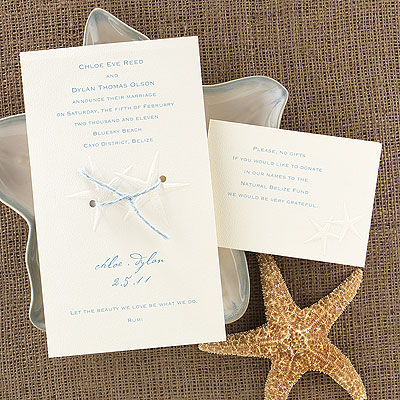 Beach, destination wedding invitations