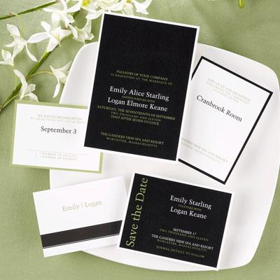 Formal, custom wedding invitations